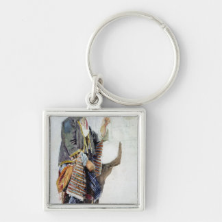 Figure of a girl in Turkish costume, 19th century Key Ring