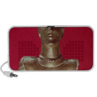 Figure of a god wearing a torque travelling speaker