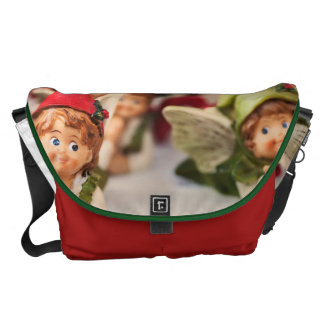 Figure Of A Little Angel, Christmas Decoration Messenger Bag