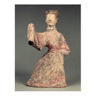 Figure of a male dancer, tomb artefact postcard