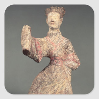 Figure of a male dancer, tomb artefact square sticker