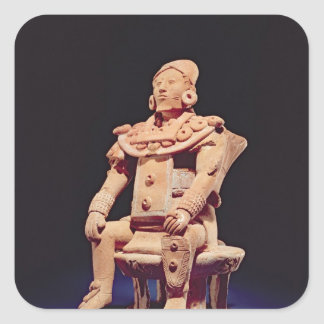 Figure of a warrior in full regalia square sticker
