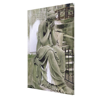 Figure of Grief, from the tomb of Pierre Gareau (d Canvas Print