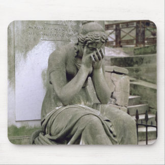 Figure of Grief, from the tomb of Pierre Gareau (d Mouse Mat