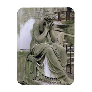 Figure of Grief, from the tomb of Pierre Gareau (d Rectangular Photo Magnet
