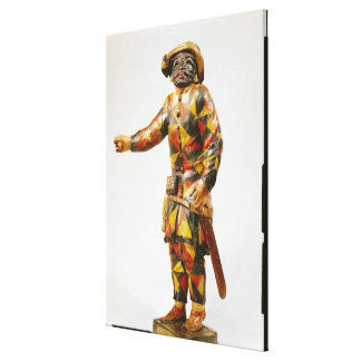 Figure of Harlequin from the Seraphin Theatre Canvas Print