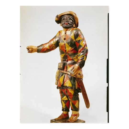 Figure of Harlequin from the Seraphin Theatre Postcard