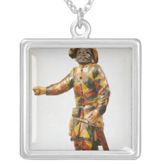 Figure of Harlequin from the Seraphin Theatre Silver Plated Necklace