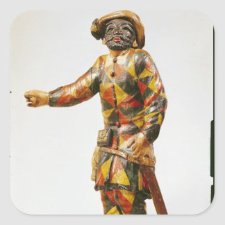 Figure of Harlequin from the Seraphin Theatre Square Sticker