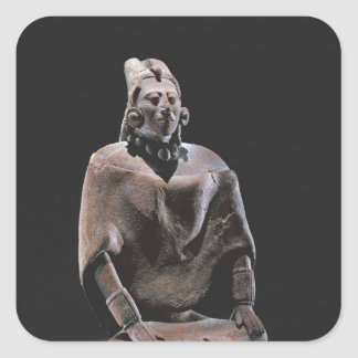 Figure of mayan seated king, from Isle ofJaina Square Sticker