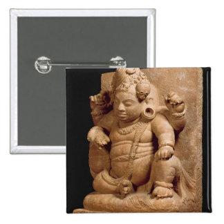 Figure of Siva as Vamana, Mansar Maharashtra (red 15 Cm Square Badge