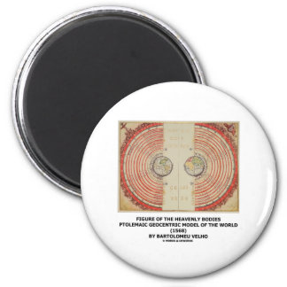 Figure Of The Heavenly Bodies (Ptolemaic World) 6 Cm Round Magnet