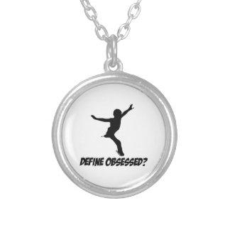 figure skate design custom necklace
