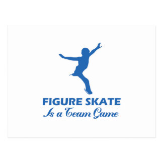figure skate design postcard