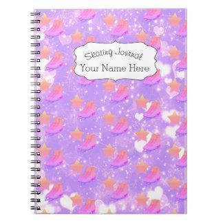 Figure Skate Notebook Journal Sporty Pink