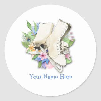 Figure Skate Sticker Custom With Your Name
