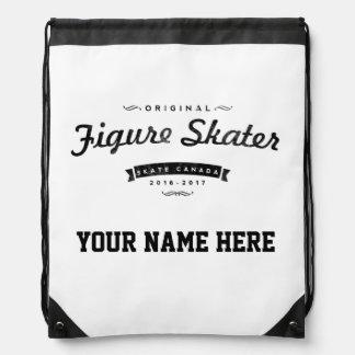 Figure Skate Vintage Drawstring BackPack Canada