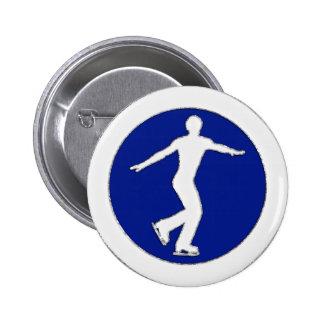 Figure Skater 6 Cm Round Badge