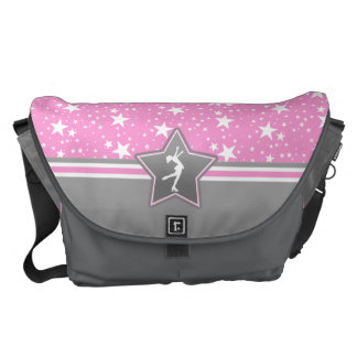Figure Skater Among the Stars in Pink Courier Bags