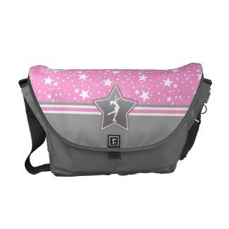Figure Skater Among the Stars in Pink Messenger Bag