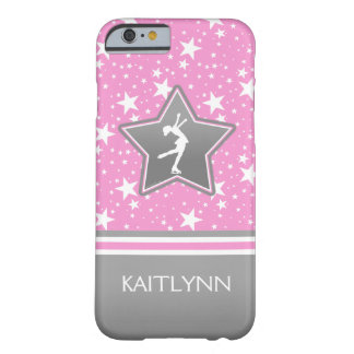 Figure Skater Among the Stars Pink with YOUR NAME Barely There iPhone 6 Case