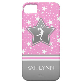 Figure Skater Among the Stars Pink with YOUR NAME iPhone 5 Covers
