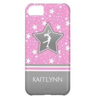 Figure Skater Among the Stars Pink with YOUR NAME iPhone 5C Case