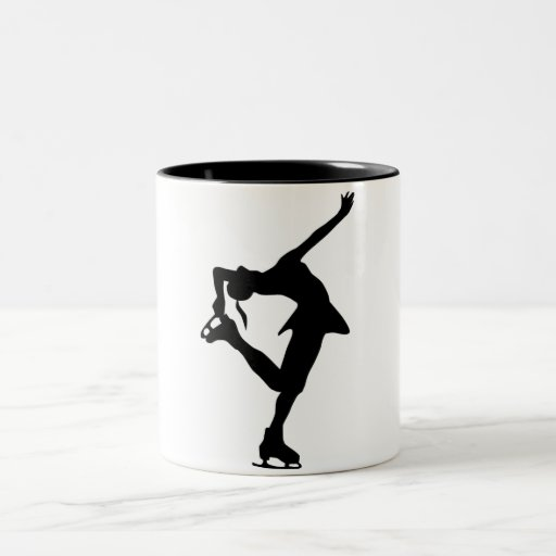 Figure Skater - Black & White Coffee Mugs