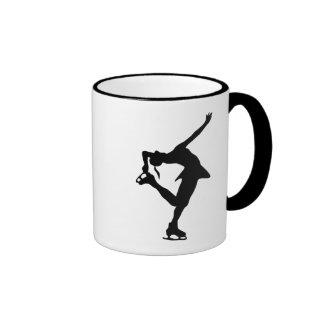 Figure Skater - Black & White Ringer Mug