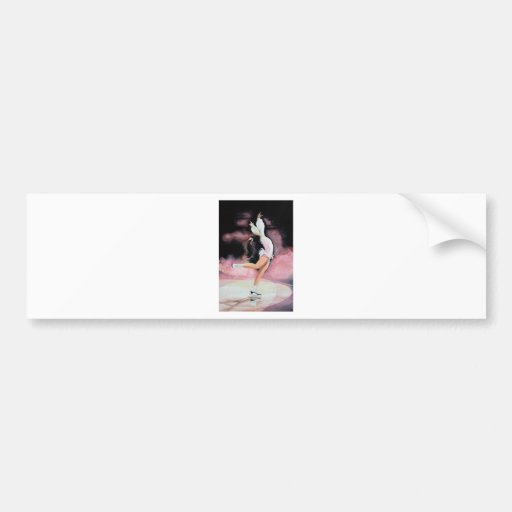 Figure Skater Bumper Sticker