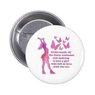Figure Skater Custom Designed Giftware Button