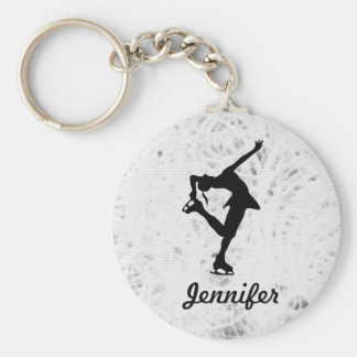 Figure Skater Girl & Name Key Chain (ice)