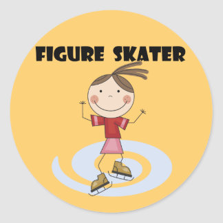 Figure Skater Girl Tshirts and Gifts Stickers