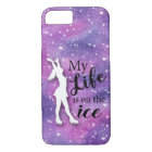 Figure Skater Iphone Case Pink Watercolor