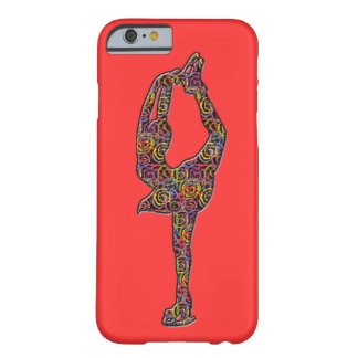Figure Skater iphone case Swirly Colors Coral Barely There iPhone 6 Case