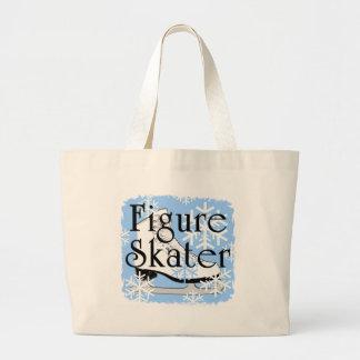 Figure Skater Large Tote Bag