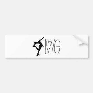 Figure Skater Love Bumper Sticker