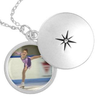 Figure Skater Necklace Locket