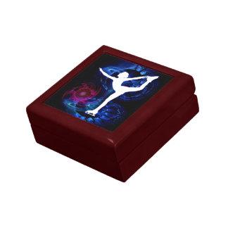Figure Skater on Technicolor Ice Gift Box