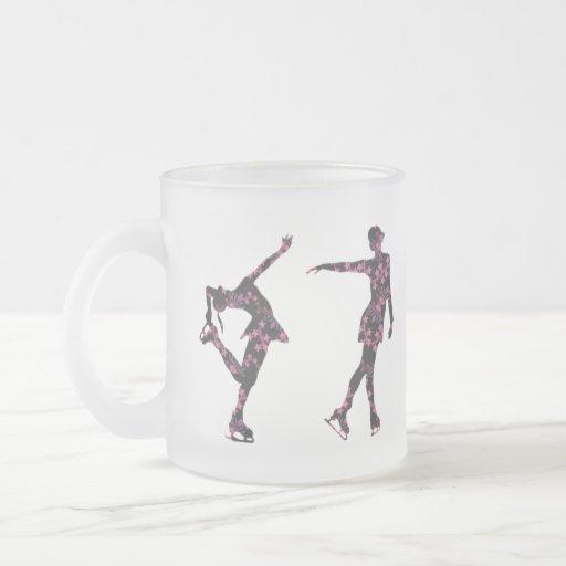 Figure Skater Pattern Frosted Mug