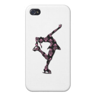 Figure Skater - PINK/BLACK PATTERN Case For The iPhone 4
