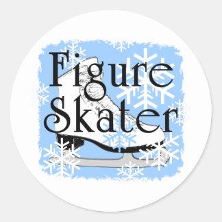 Figure Skater Round Sticker