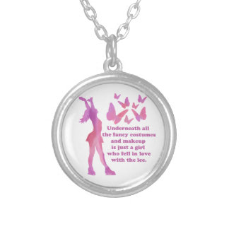 Figure Skater Saying Giftware Silver Plated Necklace