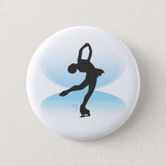 Figure Skater Spin 6 Cm Round Badge