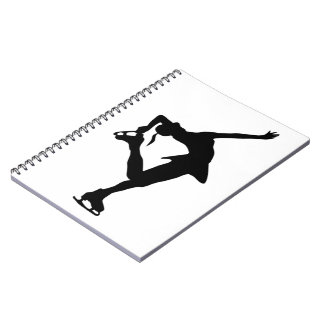 Figure Skater Spiral Note Books