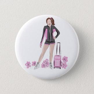 Figure Skater With Zuka Bag 6 Cm Round Badge