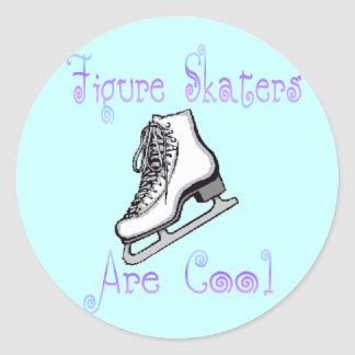 Figure Skaters Are Cool Round Sticker