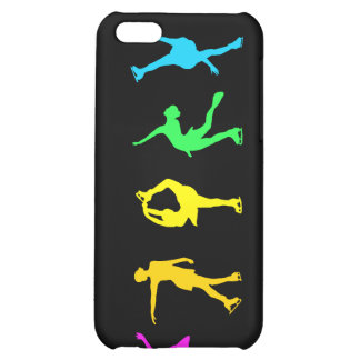 Figure Skaters Neon Pastel Rainbow iPhone 5C Cover