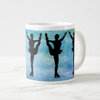 Figure Skaters on Blue Jumbo Mug