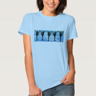 Figure Skaters on Blue T Shirt